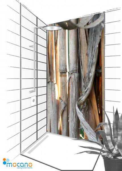 Duschrückwand Schilf 6 - 90x210cm - Wohnbeispiel