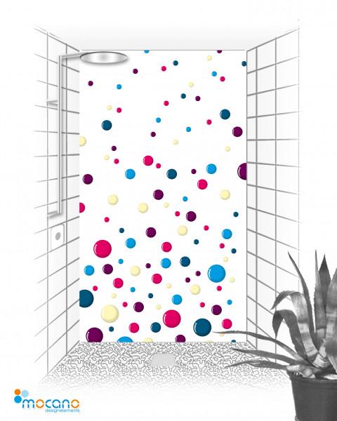 Duschrückwand Colour Bubbles 120x210cm - Wohnbeispiel