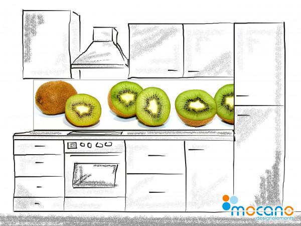 Küchenrückwand Kiwis 200x50cm - Wohnbeispiel