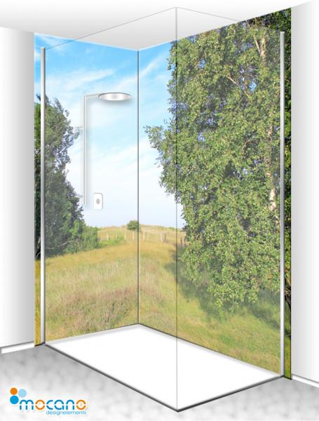 Duschrückwand Eck-Set Heide 200x210cm - Wohnbeispiel