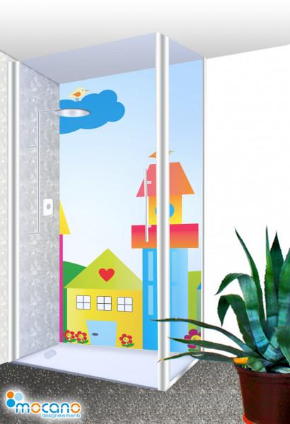 Duschrückwand - Die kleine Kinderwelt Wohnbeispiel