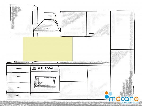 Küchenrückwand Pistazie einfarbig UNI 120x50cm - Wohnbeispiel