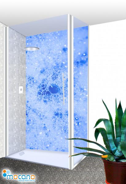 Duschrückwand - Blue Blow Wohnbeispiel