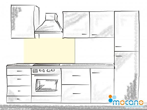 Küchenrückwand Beige einfarbig UNI 120x60cm - Wohnbeispiel