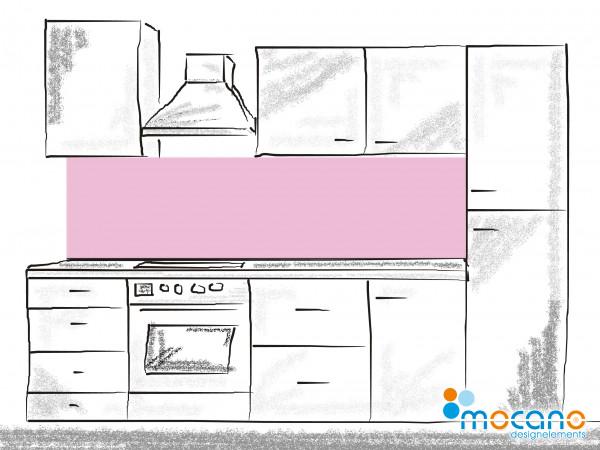 Küchenrückwand Hell Violett einfarbig UNI 200x60cm - Wohnbeispiel