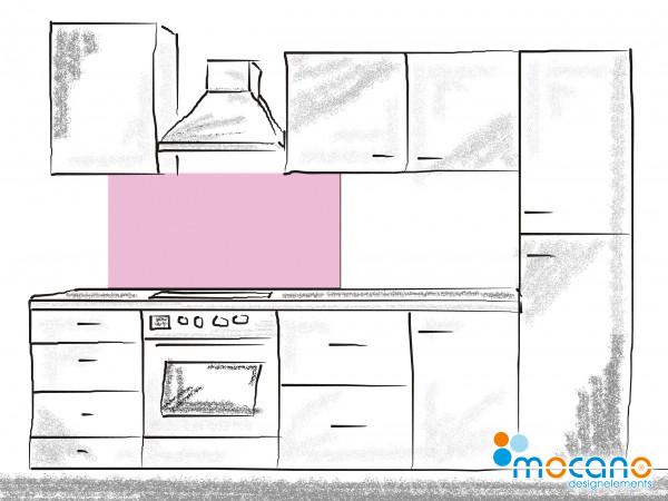 Küchenrückwand Hell Violett einfarbig UNI 120x50cm - Wohnbeispiel