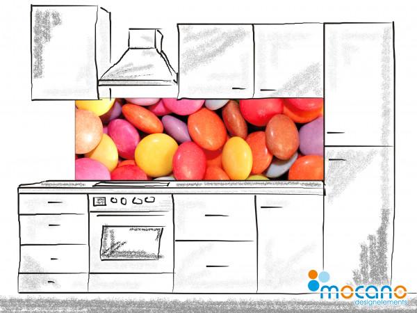 Küchenrückwand Color Bonbon 180x60cm - Wohnbeispiel