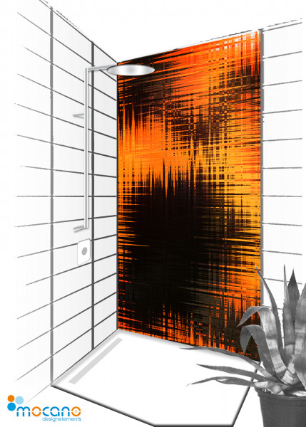 Duschrückwand Hot Impression 90x210cm - Wohnbeispiel