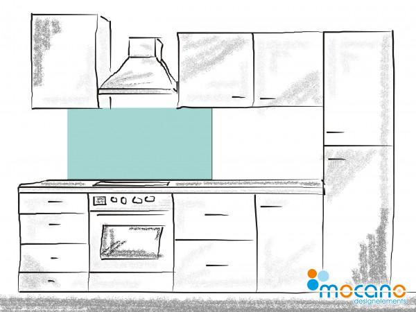 Küchenrückwand Mint einfarbig UNI 120x50cm - Wohnbeispiel