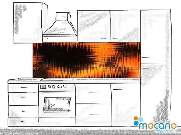 Küchenrückwand Hot Impression - 180x60cm Wohnbeispiel