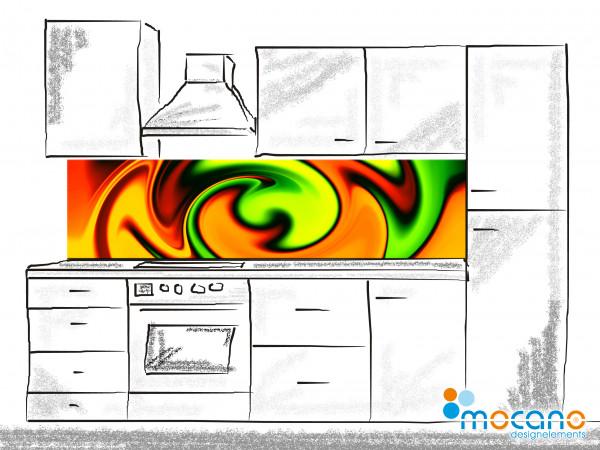 Küchenrückwand Yellow Twister 200x50cm - Wohnbeispiel