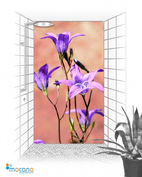 Duschrückwand Blumenzauber 120x210cm - Wohnbeispiel