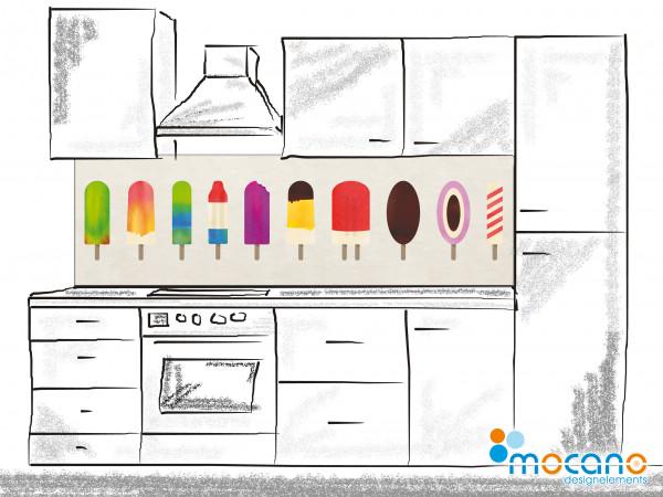 Küchenrückwand Eis - 200x60cm Wohnbeispiel