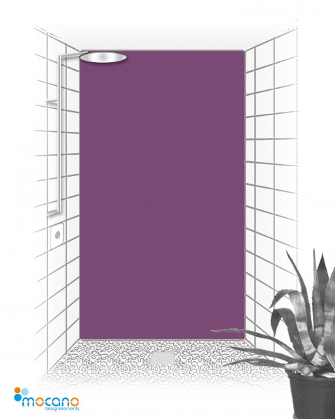 Duschrückwand Lavendel einfarbig UNI - Wohnbeispiel
