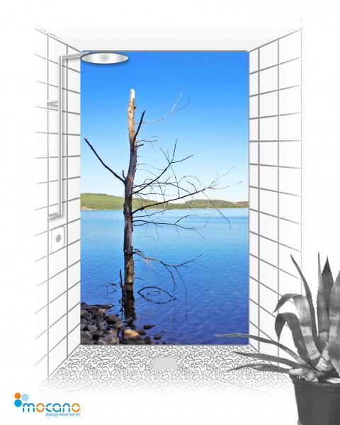 Duschrückwand Baum im See 2 120x210cm - Wohnbeispiel