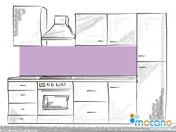 Küchenrückwand Flieder einfarbig UNI 200x50cm - Wohnbeispiel