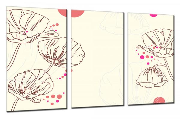 Design Mohnblumen - Mehrteiliges Leinwandbild