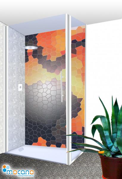 Duschrückwand - Fantasy Mosaik Wohnbeispiel