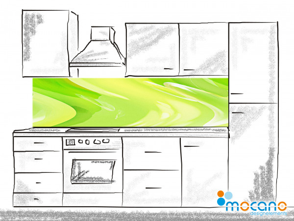 Küchenrückwand Green Lounge 200x50cm - Wohnbeispiel