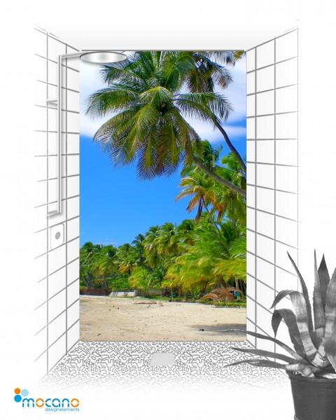 Duschrückwand Jacmel Haiti 120x210cm - Wohnbeispiel