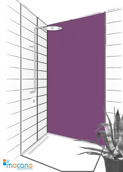Duschrückwand Lavendel 90x210cm einfarbig UNI - Wohnbeispiel