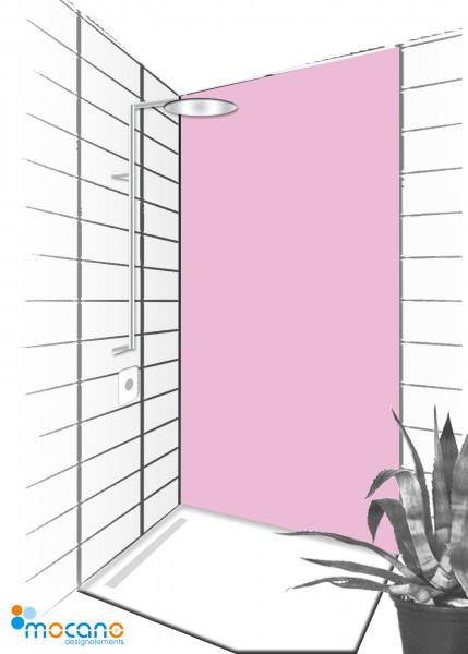 Duschrückwand Hell Violett 90x210cm einfarbig UNI - Wohnbeispiel