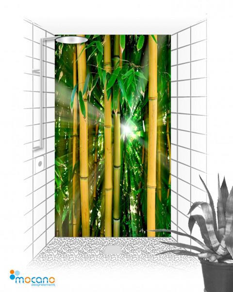 Bambus Wald 120x210cm Duschrückwand - Wohnbeispiel