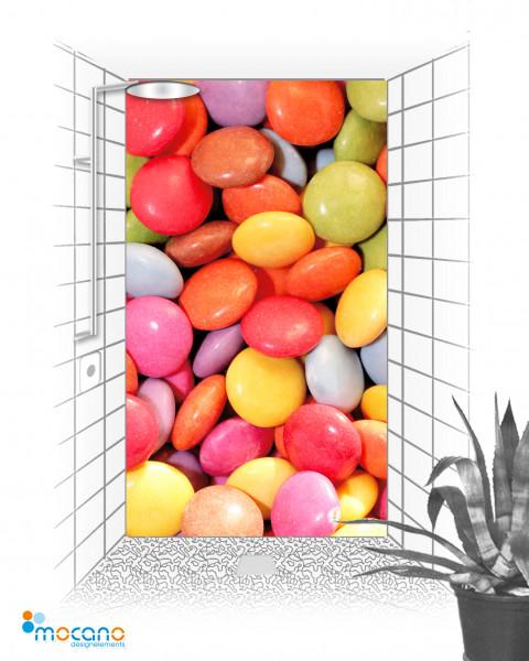 Duschrückwand Color Bonbon 120x210cm - Wohnbeispiel