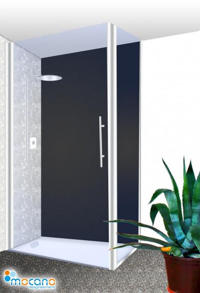 Duschrückwand Schwarz einfarbig UNI - Wohnbeispiel