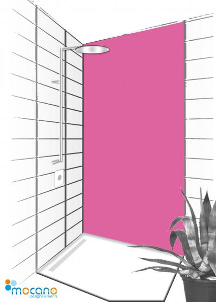 Duschrückwand Magenta 90x210cm einfarbig UNI - Wohnbeispiel