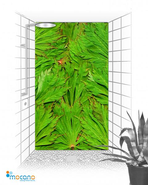 Duschrückwand Blätter Dschungel 120x210cm - Wohnbeispiel