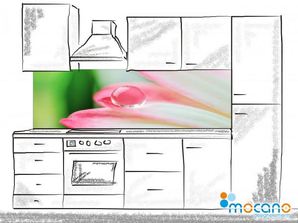 Küchenrückwand Single Waterdrop 200x60cm - Wohnbeispiel