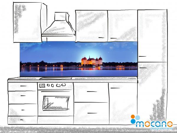 Küchenrückwand Schloß Moritzburg Panorama 200x60cm - Wohnbeispiel