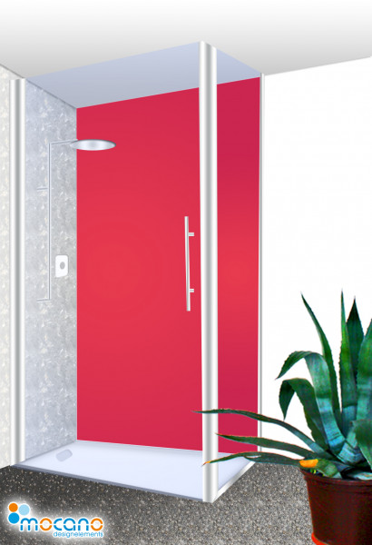 Duschrückwand Rot einfarbig UNI - Wohnbeispiel