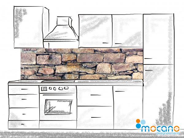 Küchenrückwand Natursteinwand 200x50cm - Wohnbeispiel
