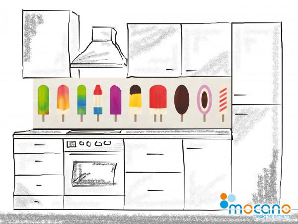Küchenrückwand Eis 200x50cm - Wohnbeispiel