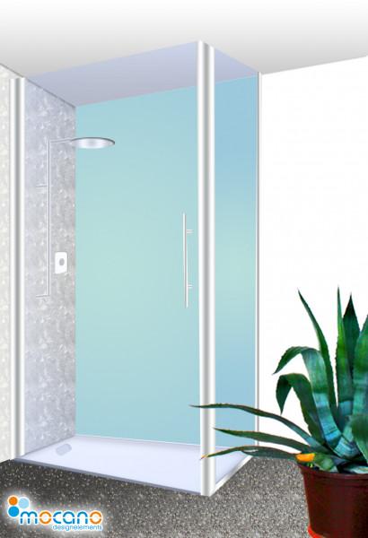 Duschrückwand Mint einfarbig UNI - Wohnbeispiel