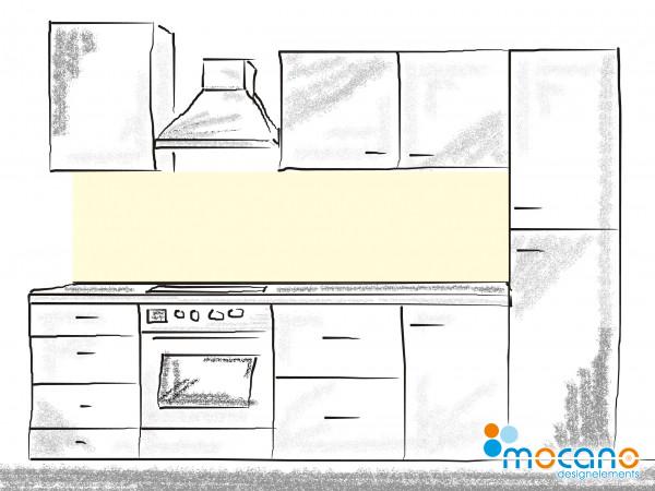 Küchenrückwand Beige einfarbig UNI 200x60cm - Wohnbeispiel