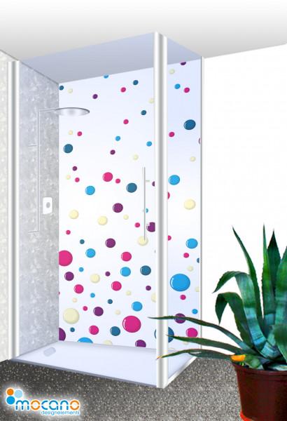Duschrückwand Colour Bubbles 100x210cm - Wohnbeispiel