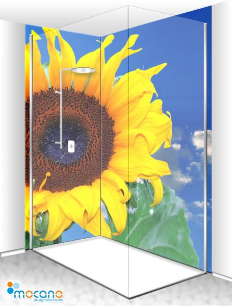 Duschrückwand Eck-Set - Sunflower 7 - Wohnbeispiel