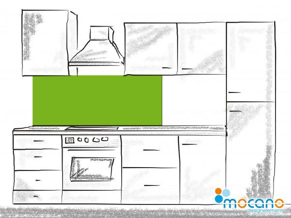 Küchenrückwand Frühlings Grün einfarbig UNI 150x50cm - Wohnbeispiel