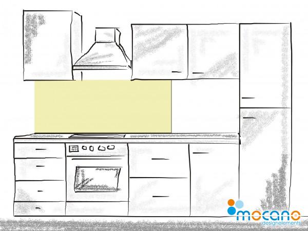 Küchenrückwand Pistazie einfarbig UNI 150x60cm - Wohnbeispiel