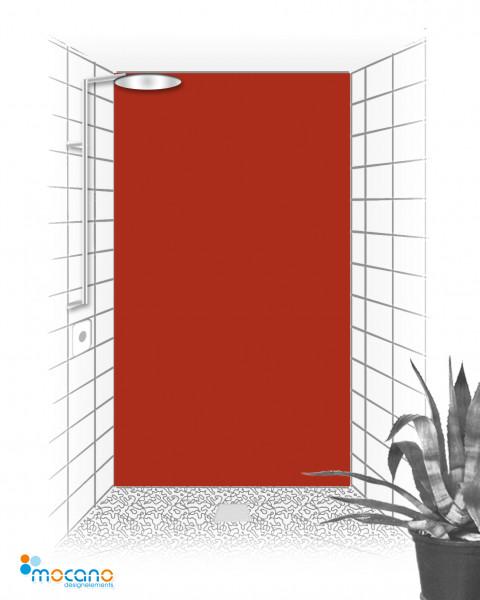 Duschrückwand Ziegel Rot einfarbig UNI - Wohnbeispiel