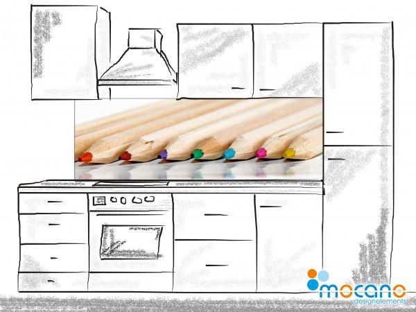 Küchenrückwand Buntstifte 083 180x60cm - Wohnbeispiel