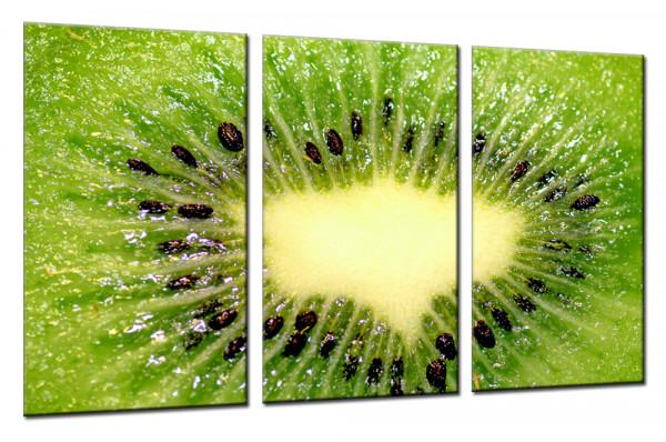 Macro Kiwi - Mehrteiliges Leinwandbild