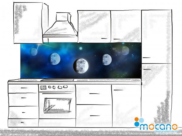 Küchenrückwand Mystic Sky 200x60cm - Wohnbeispiel