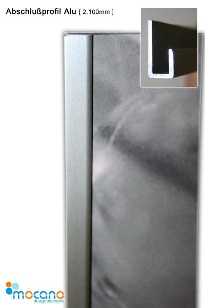 Abschlußprofil SET ALU 210cm - Duschrückwand Zubehör