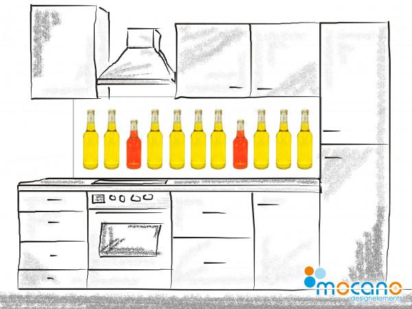 Küchenrückwand Bottle Line 180x60cm - Wohnbeispiel
