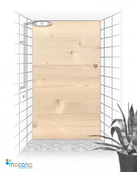 Duschrückwand - Holzoptik Fichte - Wohnbeispiel