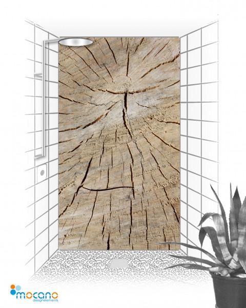 Holzstruktur 120x210cm Duschrückwand - Wohnbeispiel